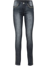 Stretchjeans, BODYFLIRT, black denim used