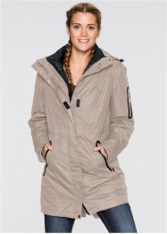 3-in-1-Funktions-Outdoorjacke, bpc bonprix collection, taupe