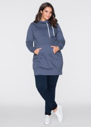 Langes Umstands-Sweatshirt, bpc bonprix collection, indigo meliert