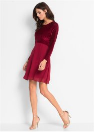 Samtkleid, BODYFLIRT, bordeaux