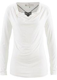 Shirt mit Kette, bpc selection, wollweiß