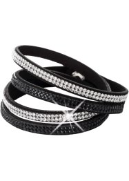 Wickelarmband mit Kristallsteinen, bpc bonprix collection