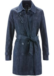 Jeans-Trenchcoat, bpc selection, darkblue stone