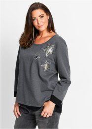 Sweatshirt, bpc selection, wollweiß meliert