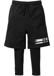Shorts + Leggings (2-tlg.), bpc bonprix collection, schwarz