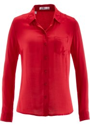 Bluse mit langen Ärmeln, bpc bonprix collection, rot