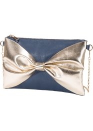"Clutch Schleife ""Marcell von Berlin for bonprix"", bpc bonprix collection, dunkelblau/gold"