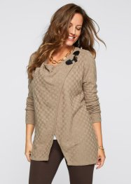 Strickjacke, BODYFLIRT boutique, beige meliert