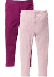 Jeggings (2er-Pack), bpc bonprix collection, beere/zartrosa