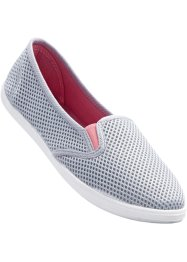 Freizeitslipper, bpc bonprix collection, grau/pink