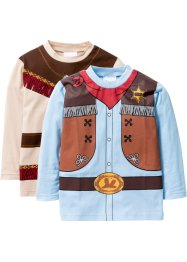Langarmshirt Cowboy+Indianer (2er-Pack), bpc bonprix collection