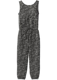 Jumpsuit, bpc bonprix collection, schwarz/grau gemustert