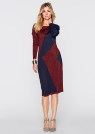 Strickkleid, bpc selection, bordeaux/marine