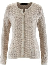 Strickjacke, bpc selection, taupe/beige