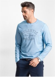 Langarmshirt im Regular Fit, bpc bonprix collection, hellblau