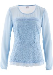 Bluse, bpc selection, eisblau