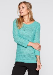 Pullover, bpc selection, tuerkisgruen
