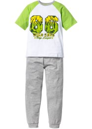 Pyjama (2-tlg. Set), bpc bonprix collection, grün/weiß