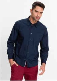 Langarmhemd Regular Fit, bpc bonprix collection, dunkelblau