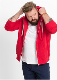 Sweatjacke im Slim Fit, RAINBOW, rot