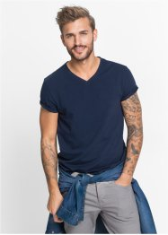 T-Shirt Slim Fit (2er-Pack), RAINBOW, dunkelblau+weiß