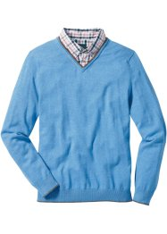 Pullover mit Hemdkragen Regular Fit, bpc selection