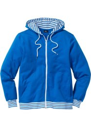 Sweatjacke im Regular Fit, bpc bonprix collection, azurblau