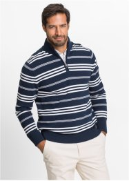 Troyer-Streifenpullover Regular Fit, bpc selection