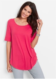 Halbarm-Longshirt, bpc bonprix collection, hibiskuspink