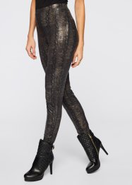 Metallic Leggings, BODYFLIRT boutique, gold/schwarz gemasert