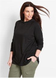 Sweatshirt, Langarm, bpc bonprix collection, schwarz