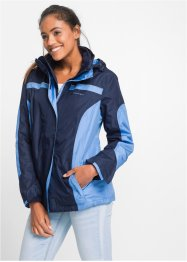 Wetterjacke 3in1, bpc bonprix collection, dunkelblau/mittelblau