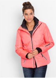 3 in 1 Funktions-Steppjacke, bpc bonprix collection, neonlachs