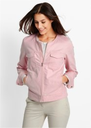 Twill-Jacke, bpc bonprix collection, perlrosa