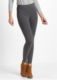 Stretch-Leggings, bpc bonprix collection, anthrazit meliert+schwarz