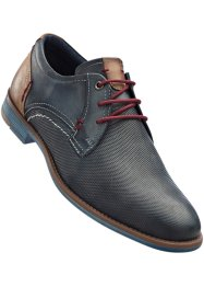 Lederschnürschuh, bpc bonprix collection, jeansblau