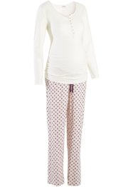 Still-Pyjama, bpc bonprix collection, ecru/bedruckt