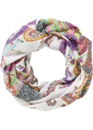 Loop mit Paisleymuster, bpc bonprix collection, weiß/beere