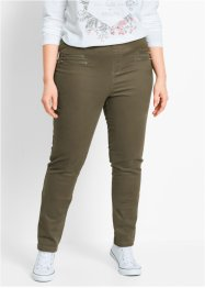 Jeggings mit Zipper, bpc bonprix collection, dunkeloliv