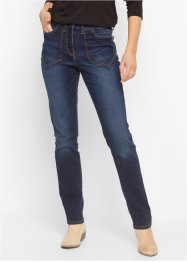 Hoch geschnittene Stretch-Jeans, bpc bonprix collection, dark denim