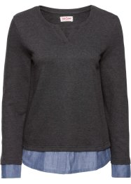 Sweatshirt, 2in1-Optik, John Baner JEANSWEAR