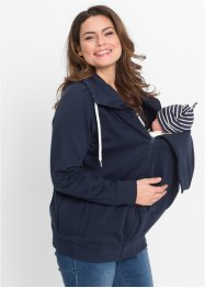 Umstands-Sweatjacke mit Babyeinsatz, bpc bonprix collection, dunkelblau