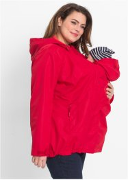 4-in-1-Umstands-Funktionsjacke mit Babyeinsatz, bpc bonprix collection, rot/hummer