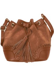 Beuteltasche mit Applikation, bpc bonprix collection, cognac