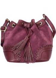 Beuteltasche mit Applikation, bpc bonprix collection, bordeaux