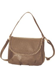 Handtasche mit Zierkette, bpc bonprix collection, taupe