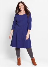 Shirt-Kleid, 3/4-Arm, bpc bonprix collection, mitternachtsblau