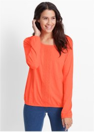 Langarmshirt, bpc bonprix collection, lachs