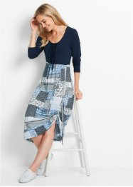 Langarm-Kleid, bpc bonprix collection, dunkelblau bedruckt