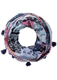 Loop Mustermix mit Troddeln, bpc bonprix collection, lila/beige/blau